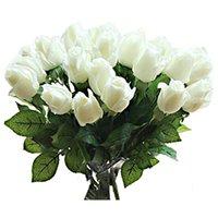 mode für zu hause künstliche blume großhandel-Fashion-10 PC neue Schöne Echte Rosenknospe künstliche Blume Latex für Heim Hochzeit Partei Wohnzimmer-Dekoration Blumenstrauß f