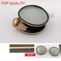 lunettes pliantes pour femmes achat en gros de-2019 en gros top qualité nouvelle mode vintage ronde pliant flash lunettes de soleil en métal cadre femmes rétro rose rd3517 cercle gafas lunettes de soleil