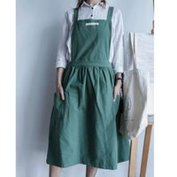 Wholesale korean style aprons resale online - South Korean Style Pleated Apron Light Blue Home Garden Household Merchandises Household Cleaning Tools Aprons