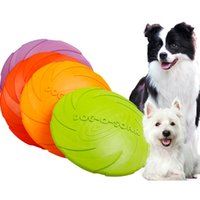 Wholesale chewing toys for puppies resale online - New Interactive Dog Chew Toys Resistance Bite Soft Rubber Puppy Pet Toy for Dogs Pet Training Products Dog Frisbie Flying Discs
