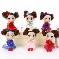 Wholesale lovely doll for boy resale online - 12CM Doll Kids Toys DIY Dress up Lovely Princess Doll Soft Interactive Baby Dolls Toy Fashion Mini For girls and boys Stuffed Toys Birthday