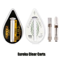 vape schrauben großhandel-Neue Eureka Clear Carts G5 Screw Vape Kartuschen 0.8ml 1.0ml 1Gram Tank 510 Keramikspule dicke Ölzerstäuber Verdampfer 10 Aroma