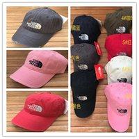 цвет продажи шляпы оптовых-Марка NF бейсболки Северных Женщин Мужчина Snapbacks Face Ripped мода Pure Color Болл Caps Регулируемого осень зима шляпа с продажей тегов