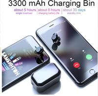хорошие держатели для телефона оптовых-Хороший TWS 5.0 Bluetooth 9d стерео наушники Беспроводные наушники IPX7 водонепроницаемый наушники 3300mAh LED смарт-Банк питания Держатель телефона