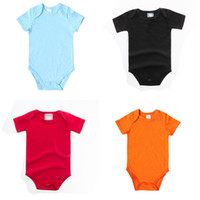 Wholesale solid red baby romper resale online - Infant Baby Solid Romper Color Short Sleeve Triangle Romper Newborn Girls Outfits Kids Designer Clothes Boys Ropa Bebe Onesies