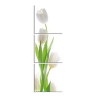 pintura a óleo de tulipas venda por atacado-3 peças de alta definição impressão tulipa canvas pintura a óleo cartaz e wall art sala de estar imagem PF3-024