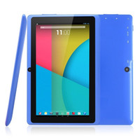 Wholesale 7 inch tablet PC Q88H Quan Zhi A33 Android quad core wifi Internet Bluetooth tablet