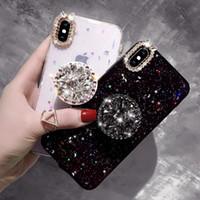 ingrosso luna specchio-Mirror Moon Star Cases Glitter Crystal Cover posteriore per iPhone Xs Xr Max X 8 7 6 Cover Plus