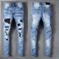 entrepierna vaqueros al por mayor-Diseñador del Mens pantalones flacos del nuevo estilo informal Sweatpants diseñador del Mens Jeans gota de la entrepierna pantalones de jogging hombre de los vaqueros