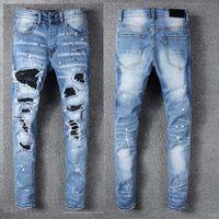 jeans jeans venda por atacado-Mens Designer Calças Novo Estilo Casual Skinny Sweatpants Mens Jeans Designer Gota Virilha Jogging Calças Calças De Brim Dos Homens