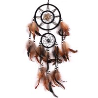 Wholesale feather decorations for sale - Group buy Dream Catcher With Feathers Wall Hanging Decoration Decor Bead Ornament