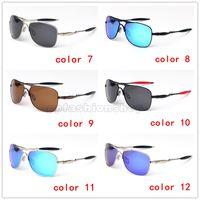 caja de gafas de goma al por mayor-Croshair Polarized marca Gafas de sol Scrub Black 61mm Gafas de sol Estuche de goma Gafas Piernas Nuevas gafas de sol anti-fragmentos 4060