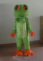 Wholesale frog clothing for sale - Group buy 2018 High quality big eyes frog Mascot Costume cartoon green frog Character Clothes Halloween