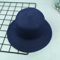 Wholesale high quality straw hats for sale - Hot sale YIWU factory outdoors summer cap High quality straw bucket hat in good price