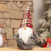 el yapımı yılbaşı süsü toptan satış-El yapımı Noel heykelcik Süsleme Tatil Gnome Santa Peluş Dekorasyon Şenlikli Hediyeler Doll Masa