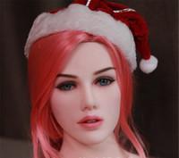 japanische sexpuppen preisgestaltung großhandel-Qualitätssilikon-realistischer Geschlechts-Puppen-Kopf für Munderwachsene Puppen-reizvolle Spielzeug-TPE-Köpfe können für 140cm bis 170cm Größengleichliebespuppen passen