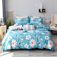 Wholesale black comforter white flowers resale online - Claroom Large flowers Printed Comforter set Russian bedding Set multiple styles Duvet Cover with pillowcases DP89