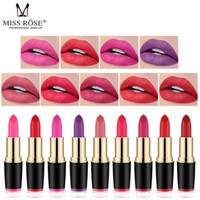 Wholesale yellow lipsticks for sale - Group buy MISS ROSE Lipstick Matte Waterproof Make Up Long Lasting Lip Stick Colors Easy To Wear Lipstick Lips Makeup Mate Lipstick