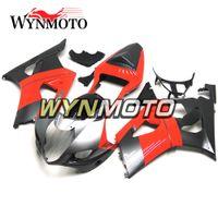 motocicletas gsxr plásticos venda por atacado-As carenagens plásticas da motocicleta da injeção do ABS para Suzuki GSXR1000 K3 2003 2004 03 04 as tampas gsxr 1000 cascas pretas vermelhas de Piantings