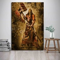 Wholesale wall art cartoon paintings for bedroom resale online - Resident The Axeman Evil Art Canvas Anime Modern Poster Painting Wall Picture Print Home For Living Room Bedroom Decoration