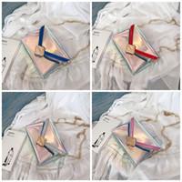 blaue süßigkeiten pakete großhandel-Laser Candy Bag weibliches Einkaufen Wrap Schüler A Schultergurt mit Kette Paket Verriegelung Anschlag Blau Silbrig 11 5mK C1