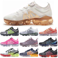 Wholesale tennis shoes free shipping resale online - Men and Women Running Shoes Sports Sneakers Metallic Gold Black Grey Volt CNY Mens Trainers Outdoors Size Eur36