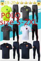 futbol üniformaları eğitim toptan satış-2019 Roman POLO Futbol Eğitim Suit Jersey 1920 POLO Iturbe Totti De Rossi Tracksuits Futbol Formalar Roman Üniforma Boyut S-2XL
