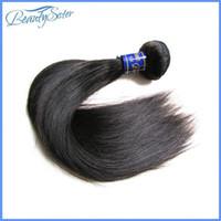 işlenmemiş hazır saç satışı toptan satış-Beautysister saç ürünleri 9a perulu bakire saç düz demetleri satılık bir adet 100g işlenmemiş remy İnsan saç dokuma doğal renk