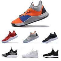gs yıldızı toptan satış-2019 Paul George III spor ayakkabı pg 3 nasa siyah beyaz bhm pg3 tüm yıldız erkekler için gs basketbol ayakkabıları