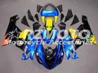 Wholesale motorcycle custom body kit resale online - 3 Gifts Hot new ABS motorcycle fairing kit For Kawasaki Ninja ZX6R motorcycle fairing body free custom
