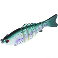 Wholesale saltwater top water fishing lures resale online - 0QBnq Swimbait Jointed Top Lures Minnow Fishing Water Hook Crankbait Bait Bass Sections cm High quality
