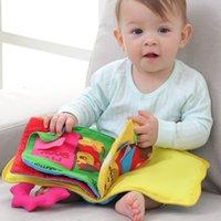 brinquedos educativos de tecido venda por atacado-Montessori Brinquedos Brinquedos Educativos para Crianças Early Learning Bebê Desenvolvimento Cognitivo Infantil Pano Macio Tecidos Animais