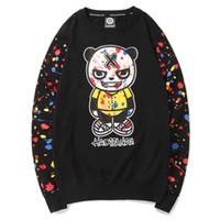 großes sweatshirt großhandel-Mens weiß Designer Hoodie Sweatshirt Pullover Männer und Frauen Modelle Rundhals lose Baumwolle Pullover Jacke große Größe Cartoon Liebhaber