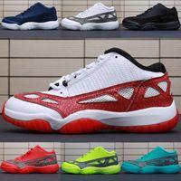 surligneur rouge achat en gros de-Jumpman Mens 11s low ie surligneur chaussures de basket Rouge Vert Bleu Oreo Noir Blanc BHM Jumpman 11 Baskets Taille 7-12