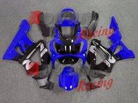 honda cbr 929 ensemble de carénage achat en gros de-3gifts Haute qualité Nouveau kit de carénages de moteur ABS pour HONDA CBR 929RR 929 2000 2001 CBR929RR 00 01 CBR 900RR ensemble de carénages personnalisé bleu noir