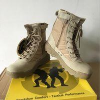 swat stiefel wüste großhandel-Delta Tactical Boots Military Desert SWAT Amerikanische Kampfstiefel Outdoor-Schuhe Atmungsaktiv Tragbare Stiefel Wandern Grau EUR 39-45