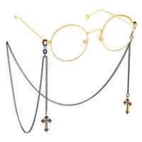 cruces collar de cadena al por mayor-Vasos Cruz de cadena collar colgante de cuerda para no Slip cuerda decoración de la moda del Cadena de gafas de lectura gafas de sol
