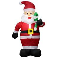 ingrosso la decorazione ha condotto la luce gonfiabile-TOPATY 150cm Babbo Natale gonfiabile da esterno a LED Figura leggera Giocattoli Giardino Cortile Decorazioni natalizie Nuovo anno 2019 US EU Plug