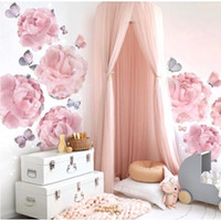 Wholesale girls single bedding for sale - Group buy Kids Bedroom Thick Canopy With Crown Canapy For Kids Room Decor Canopy Netting Thick For Baby Boy Girl Nursery Bedroom Room Y200417