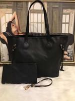 marca billetera femenina al por mayor-2019 hot Famous brand mujeres bolsos L flor diseñador de lujo bolsas compuestas señora clutch hombro tote bolso femenino con billetera 40156