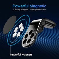 Wholesale air vent cell phone holder online – For iPhone Car Mount Holder Strong Magnetic Car Phone Holder Air Vent Cell Phone Stand Degree Aluminum Bracket all Smartphones