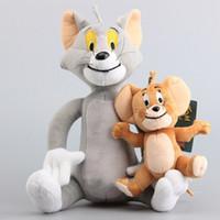 desenhos de aniversário para mulheres venda por atacado-Tom dos desenhos animados e jerry Plush Toy macio adorável Anime simples boneca homens e mulheres popular presente de aniversário New Arrival 27 8xq I1