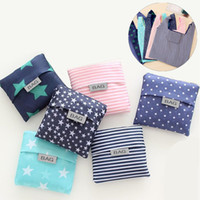 Wholesale customizable bags resale online - Promotion Customizable Creative Foldable Shopping Bags Colors Reusable Grocery Storage Bag Eco Friendly Shopping Tote Bags DH0493 T03