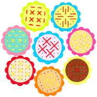 Wholesale style flower toy for sale - Threading Toys Manual Learning Education Toy Weaving Sun Flower Children Kindergarten Initiation Intelligence Multiple Styles os F1