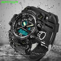 rothmans azul venda por atacado-Relógios dos homens SANDA 742 Top Marca de Luxo À Prova D 'Água Esporte Relógio Homens S Relógios de Quartzo de Choque Relógio 2018