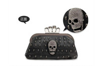 Wholesale black knuckle dusters for sale - Group buy New Fashion Women s Handbags PU Leather Lady Skulls Knuckle Black Duster Ring Bag Clutches Evening Bag