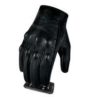 New Motorbike Glove Premium Goatskin Leather Full Finger Touchscreen Motorcycle Glove Motor Sports Gear Motocross For Men Protective Updated