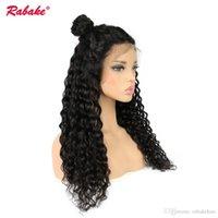 full swiss dantel peruklar toptan satış-Rabake 9A Sınıf 100% Işlenmemiş Brezilyalı Virgin Remy İnsan Saç Peruk Tam Dantel Peruk Derin Dalga Üst İsviçre dantel peruk