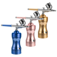 Wholesale beautiful art sets for sale - Group buy Lightweight Mini Size Portable Beautiful Airbrush Set Small Spray Pump Pen Set Air Compressor Kit for Body Art Painting Makeup