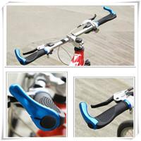 bisiklet lastik kolu toptan satış-MTB Kauçuk Bisiklet Sapları Bisiklet Gidon Sapları BMX Dağ Yolu Fixie Bisiklet Yumuşak Antiskid Darbeye Dayanıklı